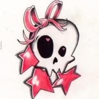 Girly Skull & Stars