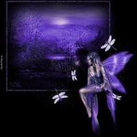 Dragonfly Purple Fairy