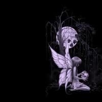 Gothic Fairy w/ Skull